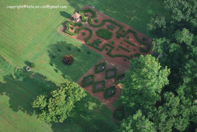 Jardin du château de Morlanne