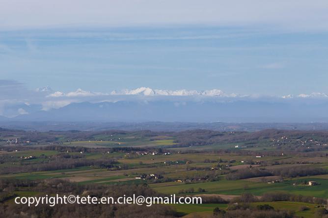 Les Pyrénées vues du Gers