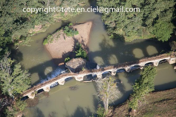 Pont-digue du moulin de Mazères