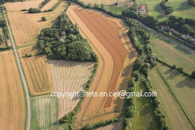Peinture agricole abstraite